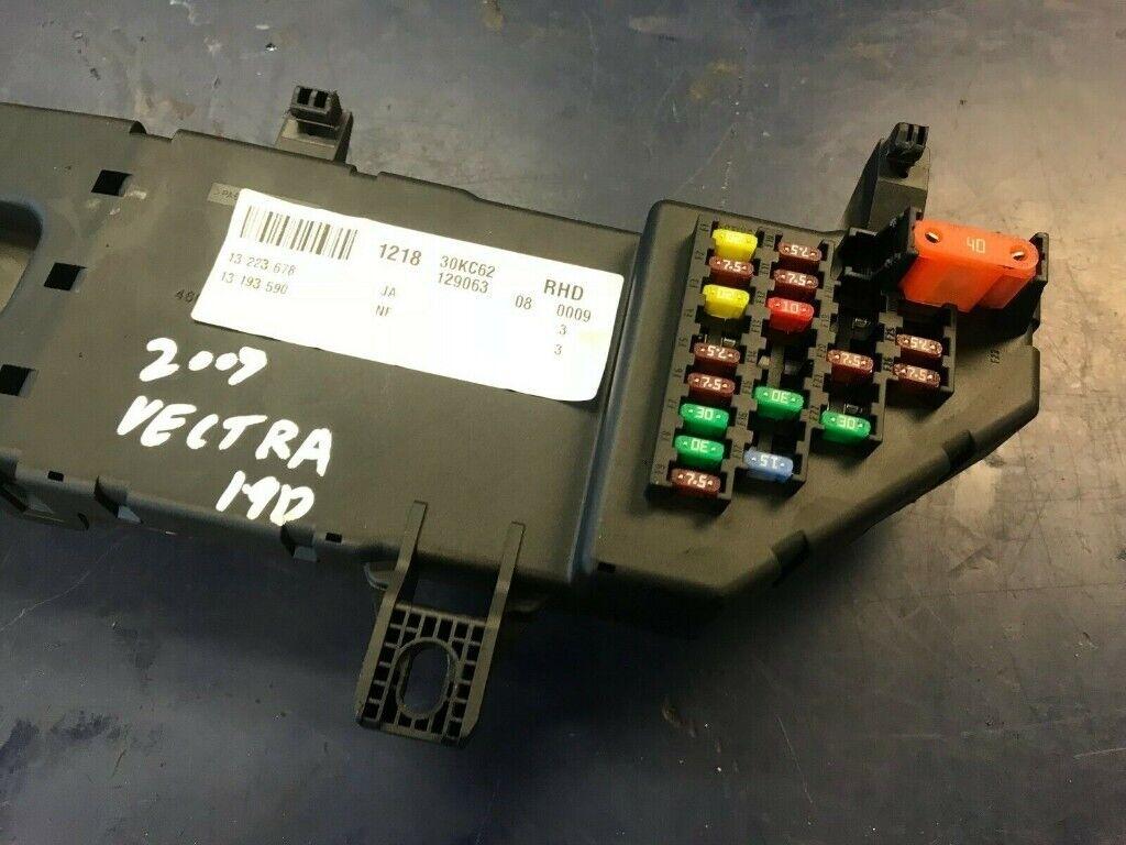 on vectra 1 9 cdti fuse box