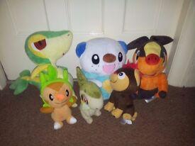 Pokemon cuddly toys.