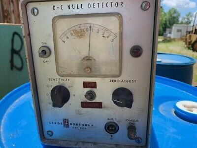 Leeds Dc Null Detectorcomparator 189