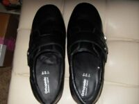 ladies leather orthopedic shoes brand new black size 6