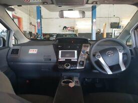 TOYOTA PRIUS PLUS Hybrid 1.8 2014(14) 7 SEATS /LOW MIL K58 (BIMTA) Certificate.