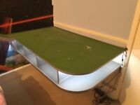 Custom made train table with led lighting and lots of storage