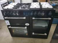 LEISURE Cookmaster CK110F232K Dual Fuel Gas Range Cooker - Black *New*