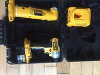 Dewalt 18v impact driver and 18v angle drill 18v