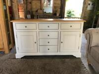 Large Sideboard BRAND NEW! Cream Painted & Oak Sells For £695!