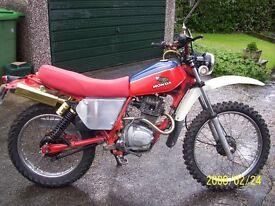 Honda xl185 trail twinshock, taxed&Mot, restored,good order.