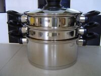 NEW ETHOSCOOK HELL'S KITCHEN STAINLESS STEEL STEAMER&STOCK POT