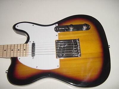 Sunburst T Style 6 String  Electric Guitar with Gig Bag Case