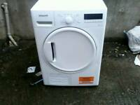 Hotpoint condenser tumble dryer TDWSF 83B EP 8kg like new .