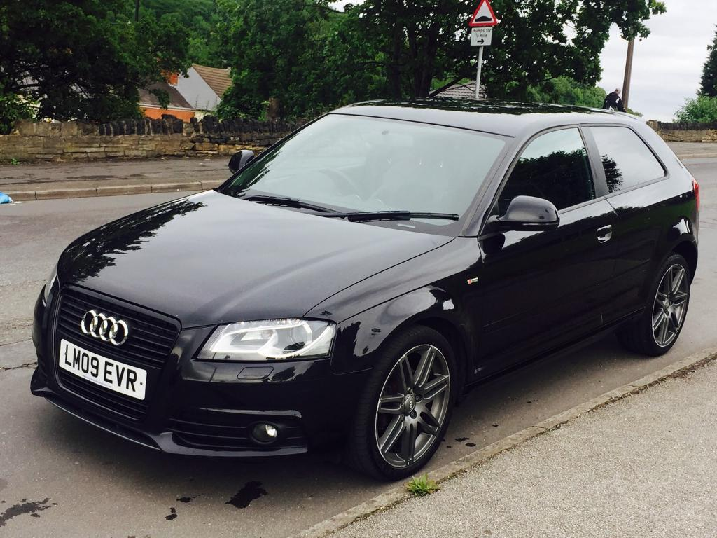 audi a3 black edition dsg 1 8t 200 bhp not a4 golf gti gtd fr leon cupra 120d s3 320d 118d in. Black Bedroom Furniture Sets. Home Design Ideas