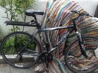 Large trek hybrid bike serviced great condition lights lock pannier rack ready to go open to offers