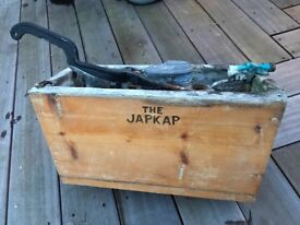 Japkap Wooden Antique Toilet High Level Cistern Lead Lined with internal Flush Handle Fully Working
