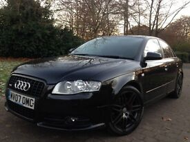 Rare 2007 Audi A4 2.0 TDI S Line special edition 170 Bhp Quattro top of the range fully loaded