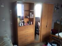 FREE!!! Used 3 door wardrobe with 5 drawers
