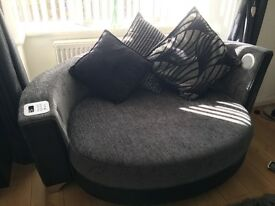 Large Sofa and Bluetooth Cuddler Chair