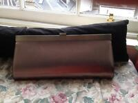 Brand New with Tags. Oversized Clutch Bag, Pewter.