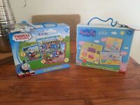 M&S kids jigsaw puzzles wooden toys Christmas stocking filler present gift THOMAS TANK & PEPPA PIG