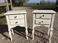 2 Shabby chic bed side tables can drop of locally