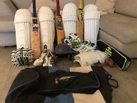 Cricket Equipment: Bats, Pads, Gloves & Other Soft Goods, Boots, Bag, Accessories