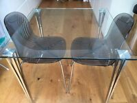 John Lewis Mystic Dining Table and two Swirl Chairs