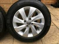 "15"" Vauxhall Corsa Alloy wheels and Tyres (original) X 4"