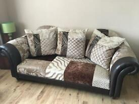 Four and three seater settees for sale