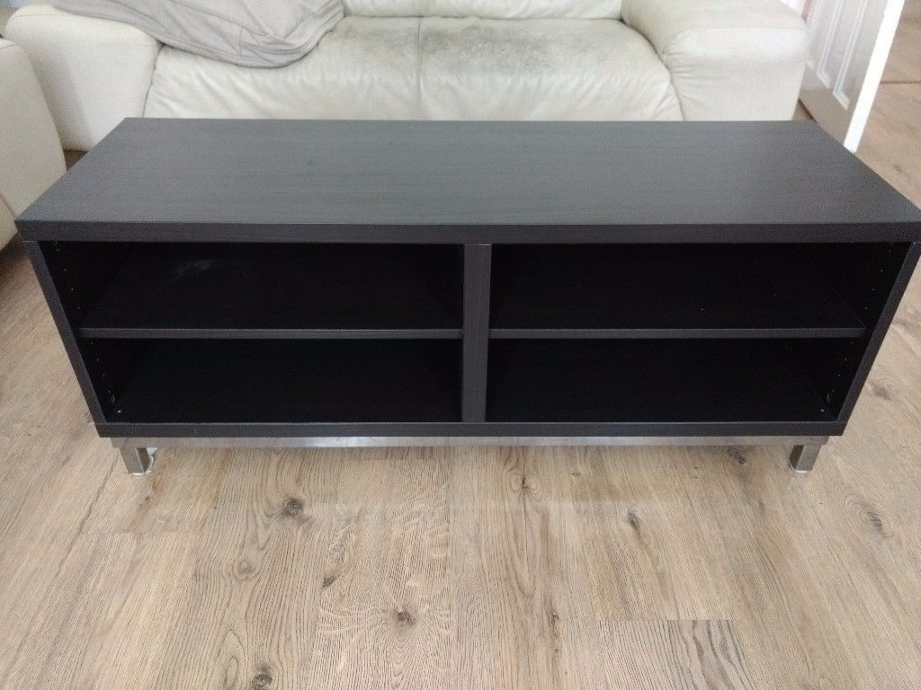 Absolutely gorgeous house of fraser high quality dark wood and absolutely gorgeous house of fraser high quality dark wood and steel tv stand geotapseo Choice Image