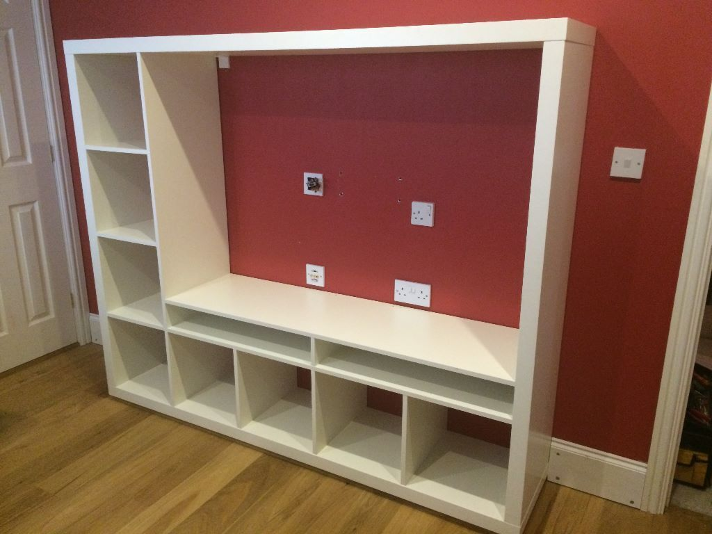 Bookcase Side Table Ikea Lappland Tv Storage Unit And Shelving White In