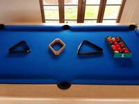 Pool table for sale 7x4 foot