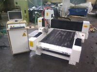 CNC Stone Router 900 x 1500 mm Bed Size 3 Phase Mach 3 controller and PC included