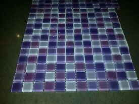 Porcelanosa Mosaic Tiles - Shades of Purple - Italian made by Porcelanosa