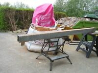 """lintel metal strong 2.7mts long to suit 9"""" solid wall bargain at £30"""