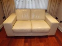TWO 2 SEATER LEATHER COUCHES