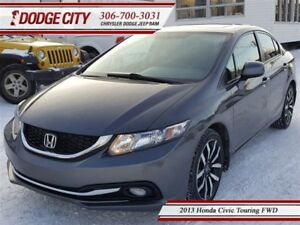 2013 Honda Civic Touring   FWD   PST PAID - Heated Leather