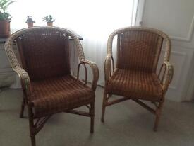 A pair of wicker armchairs by Cath Kidston £30 for the pair