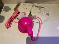 Muno Wall Lamp Pink New in box RRP £45