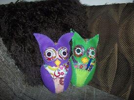 Cute Handmade Owl Cushion