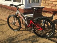 Viking Full Suspension Aluminum frame Mountain bike Red and Silver