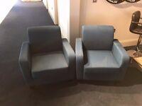 2 Blue Armchairs