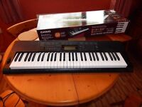 Casio CTK-3200 61 Key Piano Style Touch Response Keyboard With Mains Adapter In 'as new' condition