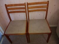 4 x CHAIRS / kitchen / dining - solid wood pine retro