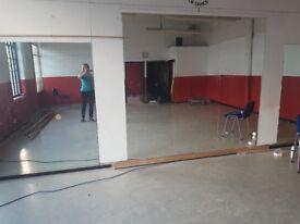 MIRRORS Large dance/studio/gym mirrors