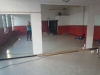 MIRRORS Large dance/studio/gym mirrors