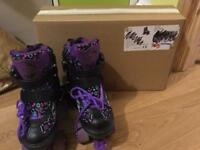 Purple roller skates adjustable