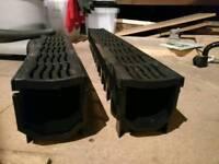 Floplast Flodrain Channel Drain & Grate Black 115mm x 1012mm 1.5x lengths