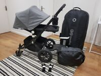 Bugaboo Cameleon 2012 'All Black Special Edition' with accessories (used)