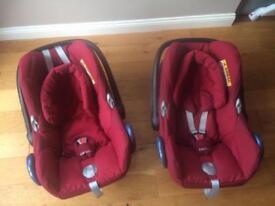 Maxi cosi cabriofix package car seats includes extras