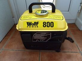 800 W Wolf generator never used