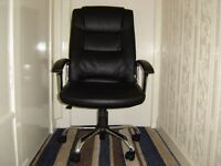 office leather chair 1 month old, tilt, height adjust, swivel £40. O.N.O