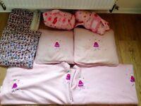 X2 brand new fleece Sleeping bag, pillow & blanket